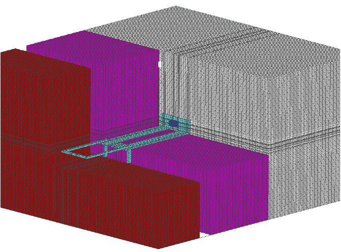 Fig. 1-8 Three-dimensional model of a galvanized steel masonry tie through exterior insulation.