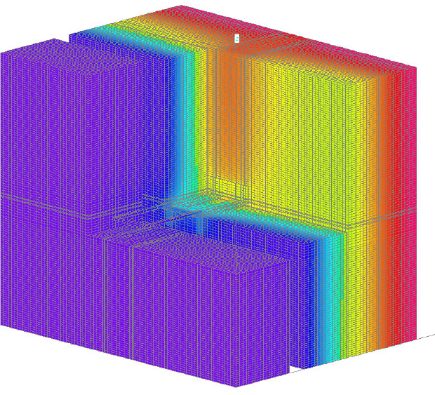 Fig. 2-9 Three-dimensional thermal image of the galvanized steel masonry tie depicted in Fig. 2-8.