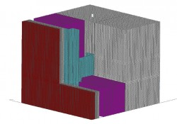 Fig. 6-6 Three-dimensional section of an intermittent Z-girt through exterior insulation