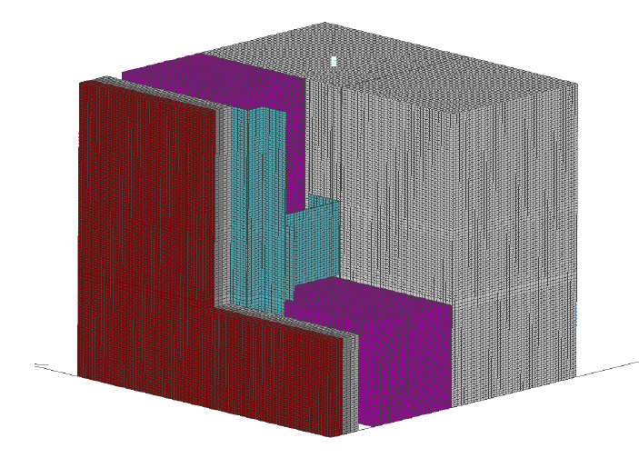 Fig. 6-6 Three-dimensional section of an intermittent Z-girt through exterior insulation.