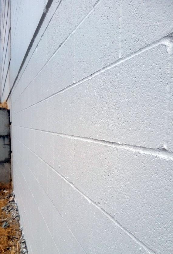 Fig. i-38 Exposed CMU wall coated with elastomeric coating.