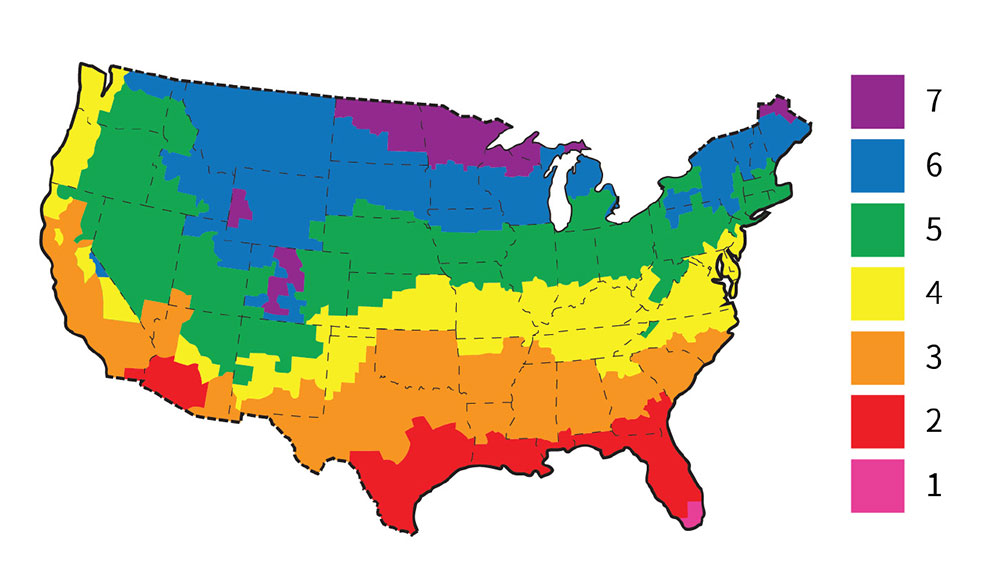 Fig. i-5 United States ASHRAE climate zone map.